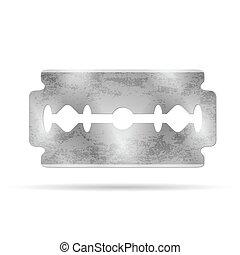 rasoio, blade., vettore, illustrazione