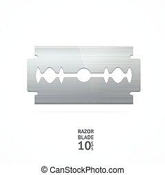 rasoio, blade., vettore
