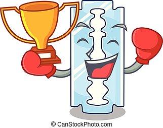 rasoir, gagnant, bois, jetable, boxe, caractère, table