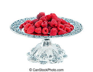 Raspberr isolated on white background.