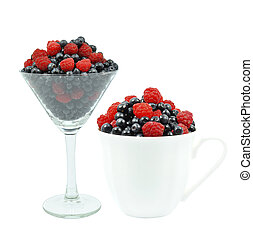 berries in a glass
