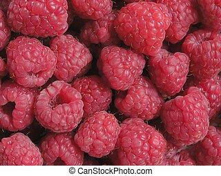 Raspberries background.
