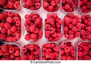 Raspberries - Fresh, ripe and delicious raspberries