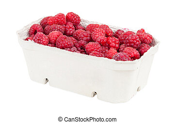 Raspberries in the box