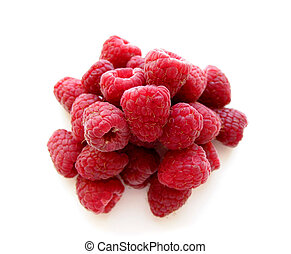 Raspberries on white 2
