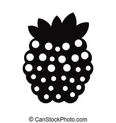 Raspberries simple icon