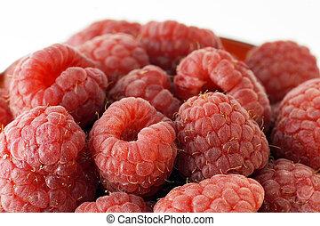 Raspberries up close