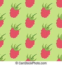 Raspberry Berry seamless pattern