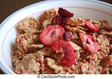 Raspberry breakfast cereal
