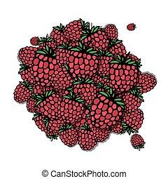Raspberry frame, sketch for your design