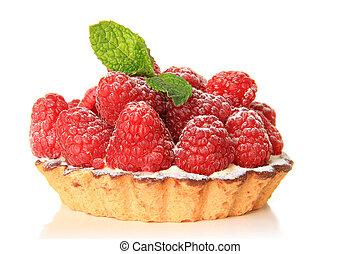 Raspberry fruit tart