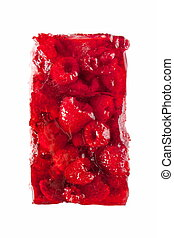 Raspberry jelly cake