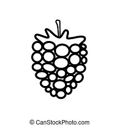 Raspberry line icon isolated on a white background
