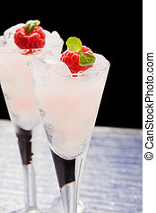 Raspberry liqueur - photo of raspberry liqueur with mint ...
