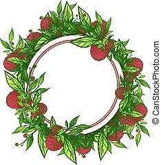 Raspberry Round Frame
