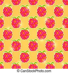 Raspberry Seamless Pattern