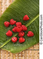 Raspberry still life.