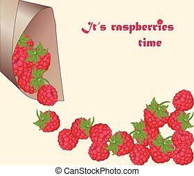 Fresh Red Raspberry background