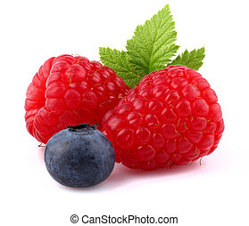 Raspberry with blueberry
