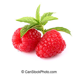 Raspberry with peppermint