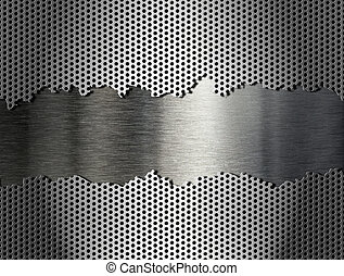 raspen, metaal, zilver, achtergrond