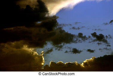 rassemblant tempête
