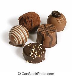 rassemblement, chocolat