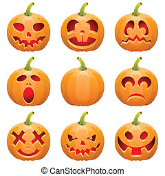 rassembler, halloween, citrouille