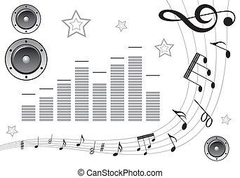 rassembler, musique, élément