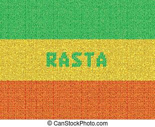 Rasta Background. Wicker rasta flag.