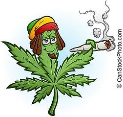 rastafari, マリファナ, 特徴, 帽子, 接合箇所, 喫煙, 身に着けていること, 漫画