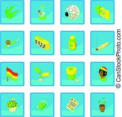 Rastafarian icon blue app