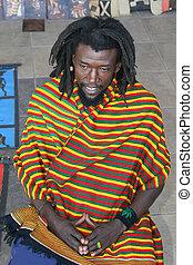 rastafarian, stående