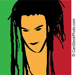 rastaman portrait - artistic rastaman portrait