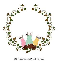 rastejadores, flowerbud, ornamento, coloridos