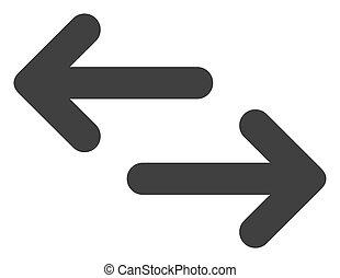 raster, 交換, 矢, 平ら, アイコン, シンボル