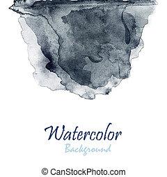 raster, abstratos, ilustração, mão, aquarela, fundo, desenhado