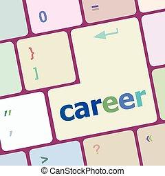 raster, carriera affari, bottone, -, illustrazione, concetto, vettore, tastiera