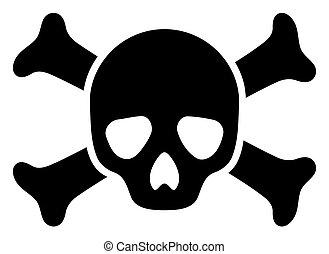 Raster Death Skull Icon