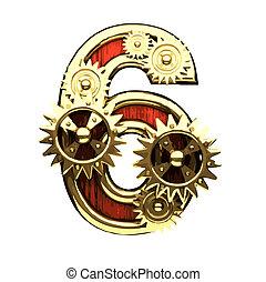raster figure  with gearwheels