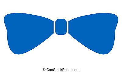 Raster Flat Bow Tie Icon