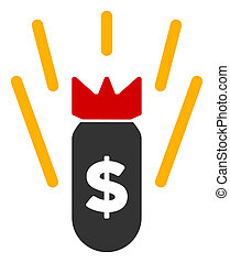 Raster Flat Financial Crisis Bomb Icon