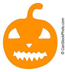 Raster Flat Halloween Pumpkin Icon