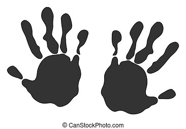 Raster Flat Hand Prints Icon
