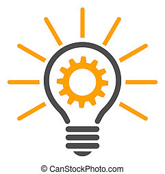 Raster Flat Innovation Bulb Icon