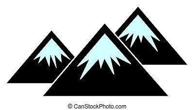 Raster Flat Mountains Icon