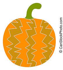 Raster Flat Pumpkin Icon