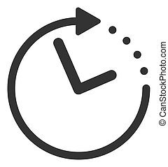 Raster Flat Time Direction Icon