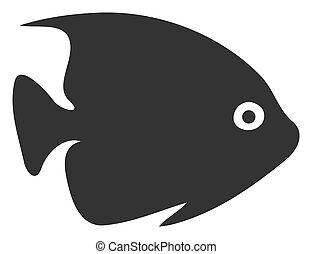 Raster Flat Tropical Fish Icon