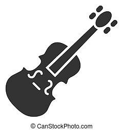 Raster Flat Violin Icon